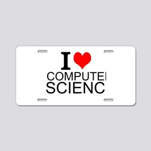 I Love Computer Science Aluminum License Plate