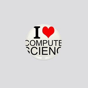 I Love Computer Science Mini Button
