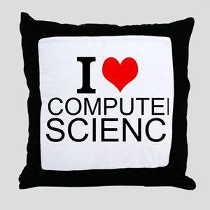 I Love Computer Science Throw Pillow