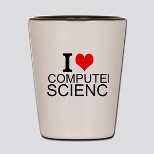 I Love Computer Science Shot Glass