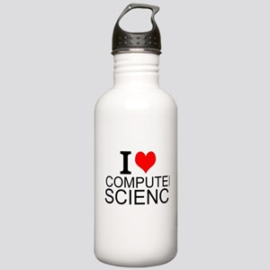I Love Computer Science Water Bottle