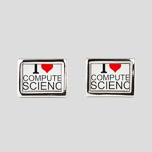 I Love Computer Science Rectangular Cufflinks