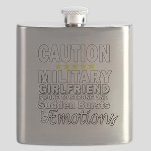 Military Girlfriend Caution Flask