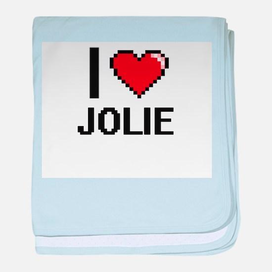I Love Jolie baby blanket