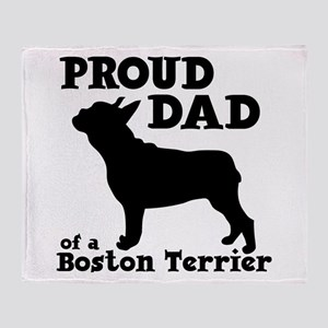 BOSTON TERRIER DAD Throw Blanket