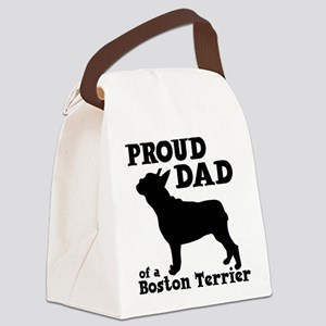 BOSTON TERRIER DAD Canvas Lunch Bag