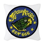 USS HAWKBILL Woven Throw Pillow