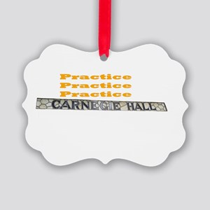 How Do You Get To Carnegie Hall? Picture Ornament