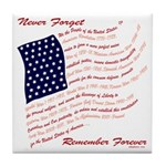 USA Never Forget Tile Coaster