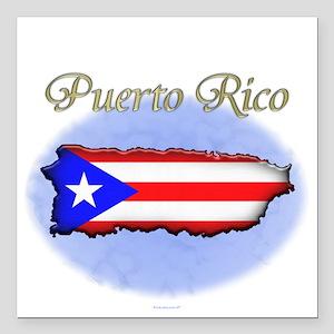 """Puerto Rico Square Car Magnet 3"""" x 3"""""""