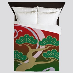 Surreal Bonsai Tree Abstract #2 Queen Duvet
