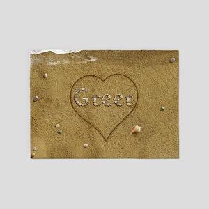 Greer Beach Love 5'x7'Area Rug