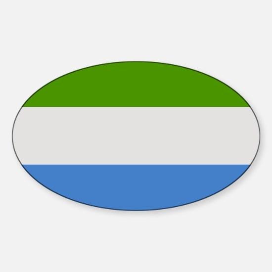 """Sierra Leone Flag"" Oval Decal"