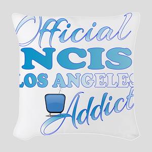 Official NCIS LA Addict  Woven Throw Pillow