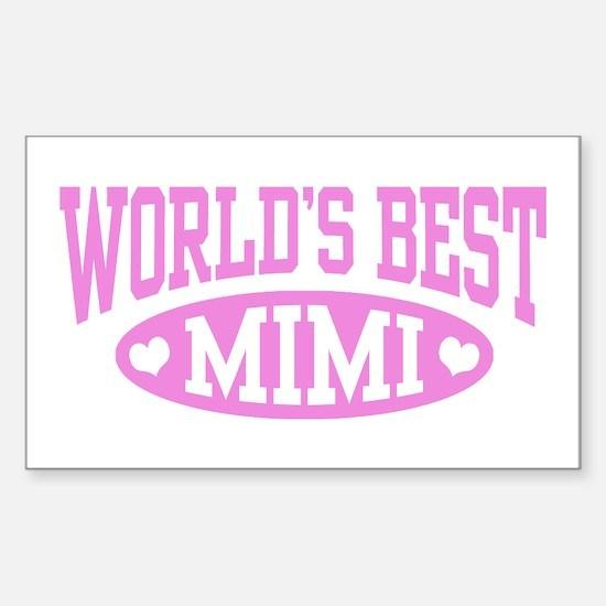 World's Best Mimi Sticker (Rectangle)