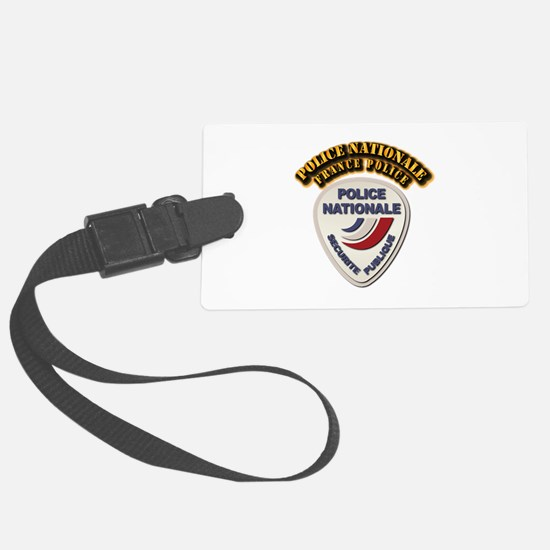 Police Nationale France Police w Luggage Tag