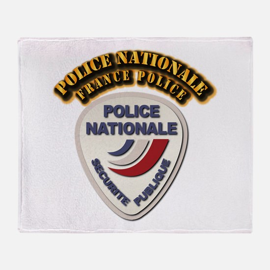 Police Nationale France Police with Throw Blanket