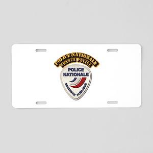 Police Nationale France Pol Aluminum License Plate