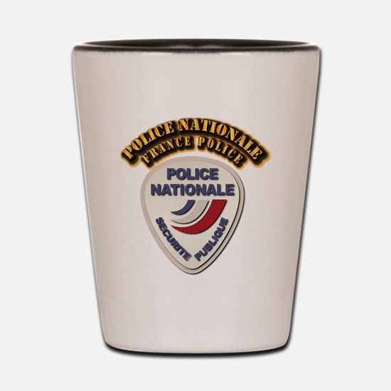 Police Nationale France Police with Tex Shot Glass