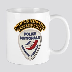 Police Nationale France Police with Tex Mug