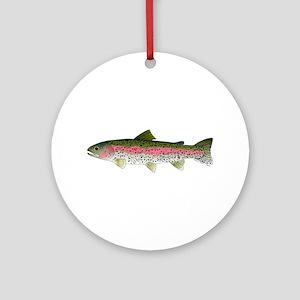 Rainbow Trout - Stream Ornament (Round)