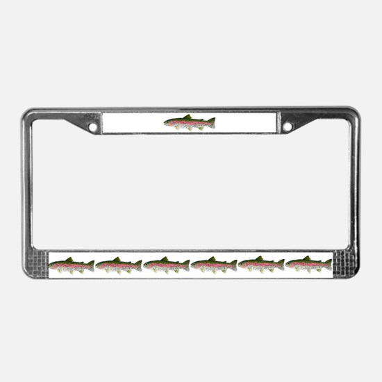Rainbow Trout - Stream License Plate Frame