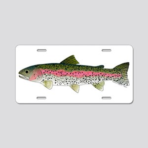 Rainbow Trout - Stream Aluminum License Plate