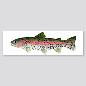 Rainbow Trout - Stream Bumper Sticker