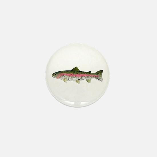 Rainbow Trout - Stream Mini Button