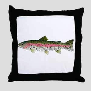 Rainbow Trout - Stream Throw Pillow