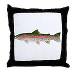 Rainbow Trout - Stream Throw Pillow