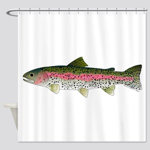 Rainbow Trout - Stream Shower Curtain