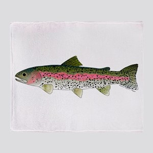 Rainbow Trout - Stream Throw Blanket