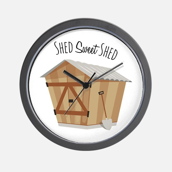 Sweet Shed Wall Clock