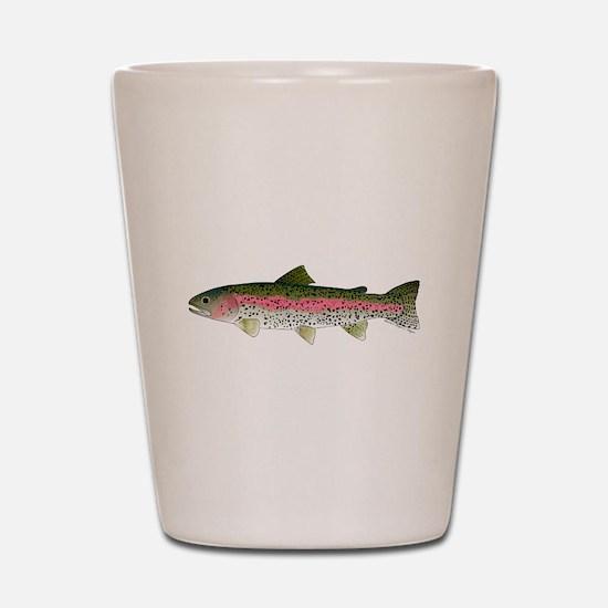 Rainbow Trout - Stream Shot Glass