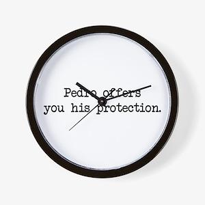 Pedro Protection (blk) - Napoleon Wall Clock