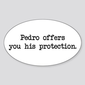 Pedro Protection (blk) - Napoleon Oval Sticker