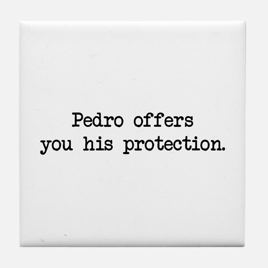 Pedro Protection (blk) - Napoleon Tile Coaster