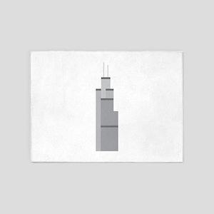 Skyscraper 5'x7'Area Rug