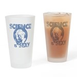 Science is Sexy - Light Blue Drinking Glass