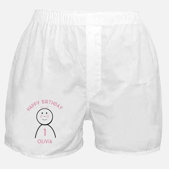 Happy B-day Olivia (1st) Boxer Shorts