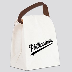 Philippines Script Canvas Lunch Bag
