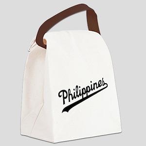 Philippines Script Canvas Lunch Bag