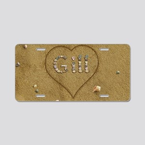 Gill Beach Love Aluminum License Plate