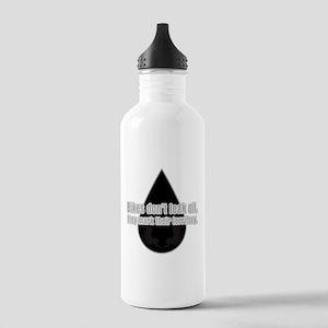 Bikes Don't Leak Oil Stainless Water Bottle 1.0L