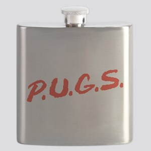 PUGS Not Drugs Flask
