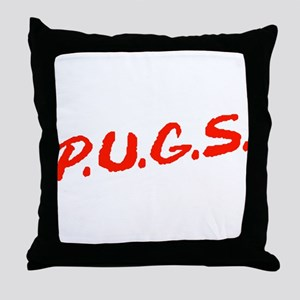 PUGS Not Drugs Throw Pillow
