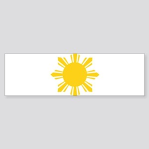 Philippines Flag Sun Bumper Sticker