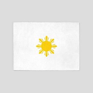 Philippines Flag Sun 5'x7'Area Rug