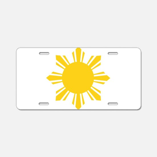 Philippines Flag Sun Aluminum License Plate